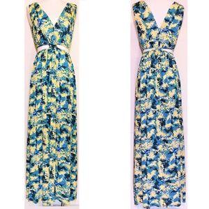 Rachel Pally Side Cutout Printed Modal Maxi Dress